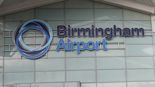 A man has been arrested at Birmingham Airport on suspicion of funding terrorism.