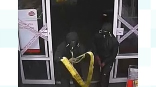 Appeal to find four men who tried to pull cash machine from wall