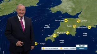 Patchy cloud & sunny spells for the South West