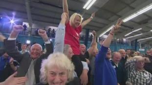 Samantha Adamson celebrates EU referendum result