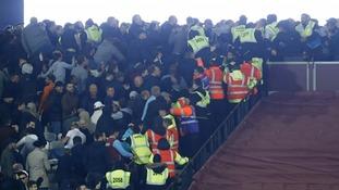 West Ham to ban 200 fans after violence inside stadium