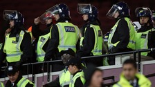 Three charged after London Stadium crowd violence