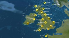 Weather: A mix of sunshine and showers
