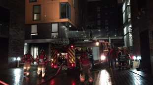 Forty firefighters tackle apartment block blaze