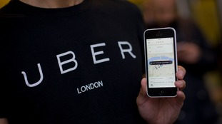 The taxi app company argues that its drivers are self-employed.