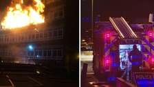 Large fire at Swansea's Gower College is now 'under control'