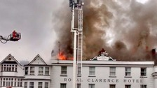 Major fire hits 'oldest hotel in England'