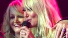 Bonnie Tyler's best friend sends luck to Sam Lavery