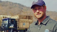 Prince Harry helps move 500 Malawi elephants 220 miles