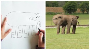 Father takes drawings of son, aged seven, and turns them into reality