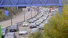 crash near junction 28 M4