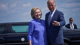 Reports suggest Hillary Clinton is lining up Joe Biden to be her secretary of state.