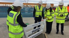 Papworth Hospital celebrates 'topping out' at new site