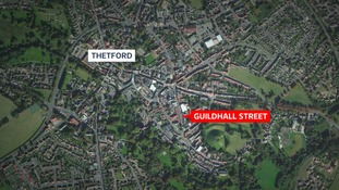 The incident happened on Guildhall street in Thetford shortly before 7 this evening