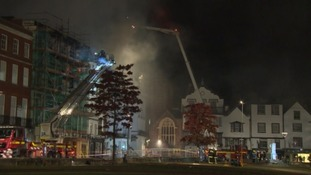 Fire service continue to tackle the blaze
