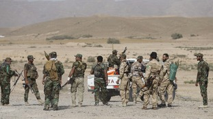 Shi'ite fighters gather to fight against Islamic State militants in a previous offensive.