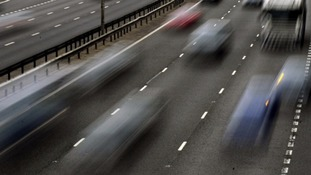 One lane is closed on the M5 Northbound.