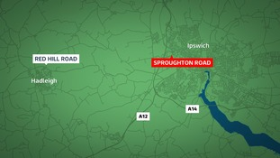 A car was stolen from Sproughton Road in Ipswich and two teenagers later arrested near Hadleigh.