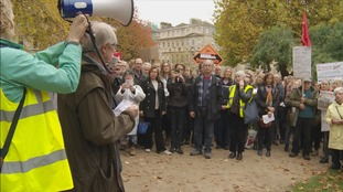 Hundreds of people turned up for the march in Bath