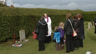 Memorial service for man buried without a name