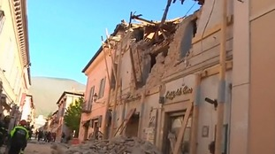 Several people have been injured, one seriously, in Italy quake.