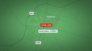 Shots have been fired from an air gun for a second time in Thetford.