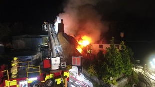 Fifteen pumps called to Sussex thatch blaze