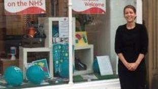 Linda Quinn outside of her shop