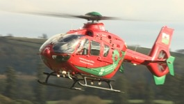 A Wales Air Ambulance helicopter