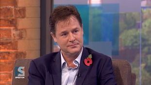 Nick Clegg told Peston on Sunday that he was in full agreement with Tony Blair on the EU.