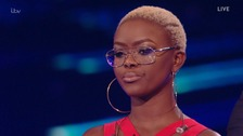 Gifty Louise was booted off the X Factor tonight