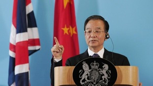 Chinese Premier Wen Jiabao speaks during a joint press conference with Prime Minister David Cameron at the Foreign Office in London in 2011.