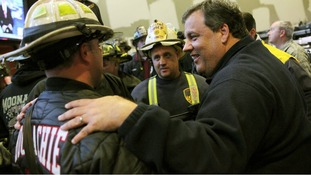 The New Jersey Governor thanked firefighters for their dedication during Sandy and its aftermath