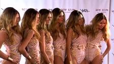 Heidi Klum and five 'clones'