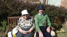 Devoted couple Ray and Jessie Lorrison from South Shields, who have been together for 70 years.