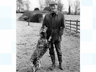 Michael Heseltine pictured with his dog (not Kim).