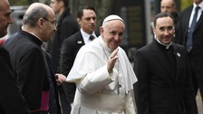 The pope indicated he did not support campaigners for women priests