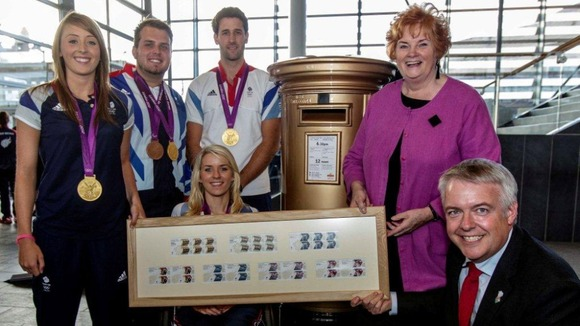 London 2012 gold medal winners in the Senedd