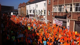 Sikh protest march in Birmingham