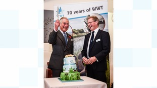 Prince Charles visit to Slimbridge