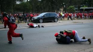 Protests against Jacob Zuma have turned violent