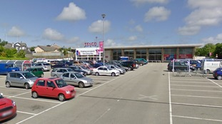 tesco car park
