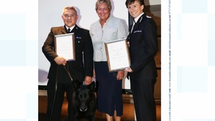 Bravery award for police dog who saved a woman's life