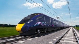 A CGI image of one of the new trains