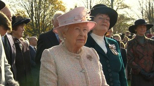 Crowds welcome the Queen to Newmarket