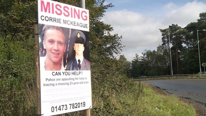 Posters have been put up across Norfolk and Suffolk to help find Corrie.