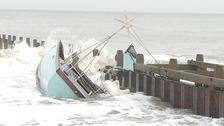John Favell was left with just the clothes he was standing in when his 43ft yacht, Mithril, ran aground on Saturday.