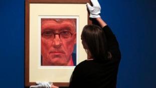 Hockney's iPad 'selfie' goes up at Buckingham Palace