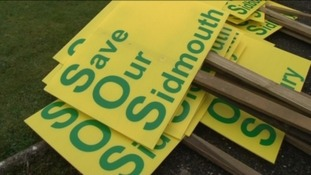 'Save our Sidmouth' campaign group have put up placards around the town.