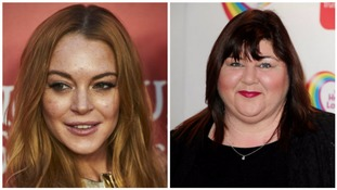 Cheryl Fergison has replaced Lindsay Lohan to switch on Kettering town's Christmas lights